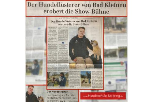 Presseartikel in der Ostsee-Zeitung